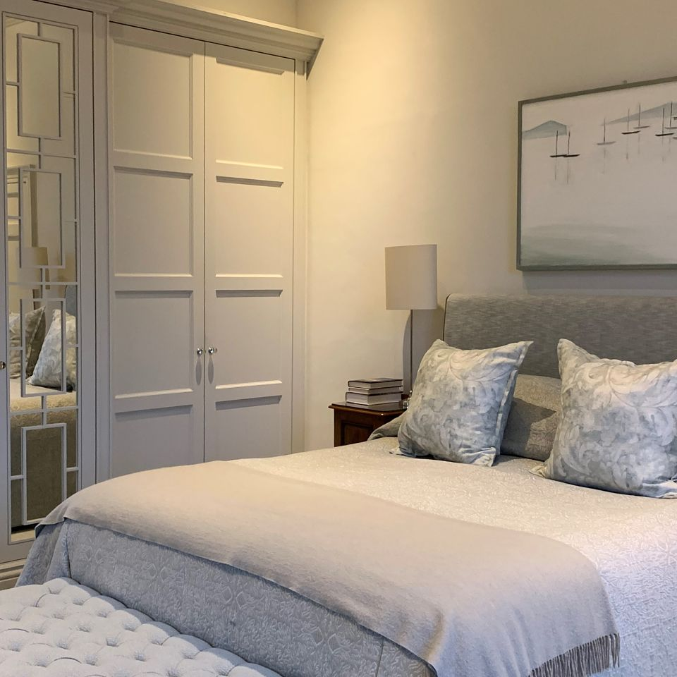 A beautiful bedroom in a Oxfordshire village Manor house