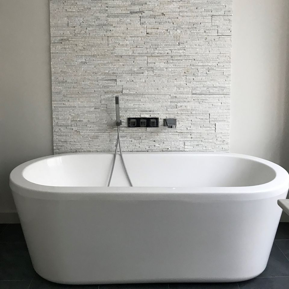 A contemporary bathroom in a Ladbroke Grove Mews House